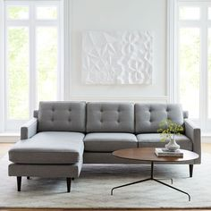 https://www.westelm.com/products/build-your-own-drake-sectional-h4038/?pkey=call-sectionals Mid Century Sectional, Mid Century Modern Couch, Sofa Furniture, Modern Furniture, Living Room Furniture, Furniture Ideas, Living Room Decor, Modern Sectional, Modern Sofa