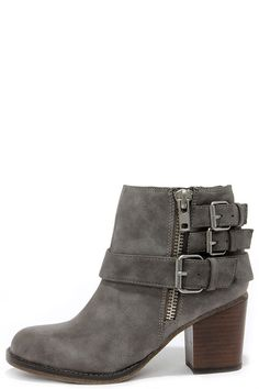 Madden Girl Wicker Taupe Buckled Ankle Boots at Lulus.com!