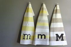 Oleander and Palm: DIY West Elm Monogram Towels