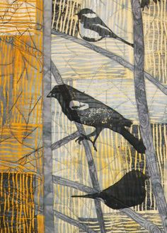 "cynthia st. charles, ""sunset"",  winter birds detail"