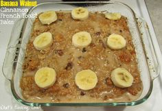This Banana Walnut Cinnamon French Toast Bake is a variation on the Cinnamon French Toast Bake that I posted a few months ago. This is made using refrigerated cinnamon buns and adds bananas and walnuts to make a great breakfast. This would be perfect for an Easter brunch, for any specialoccasion, or just because.  …
