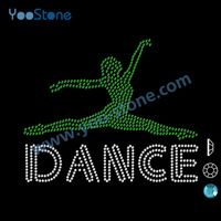 Fashion Dance Rhinestone Transfers Wholesale For Dress Free Shipping