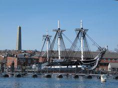 Uss Constitution Boston Harbor Stock Photos &amp- Uss Constitution ...
