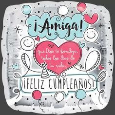 Happy Birthday In Spanish, Happy Birthday Friend, Happy Birthday Pictures, Happy Birthday Messages, Happy Birthday Quotes, Birthday Images, Birthday Greetings, Birthday Ideas, Wallpaper Gatos