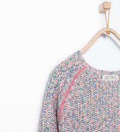 Pull multicolore paillettes de Zara