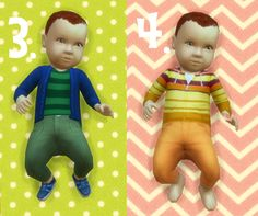 It's all about clutter, Baby Overrides: Set 11 - Light Skin/Boy + Red...