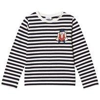 Wynken Long Sleeve Stripe Tee Navy/White Navy and White