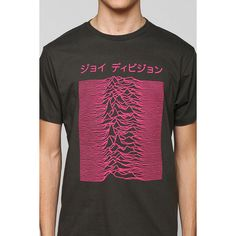 Joy Division Japanese Tee ($28) ❤ liked on Polyvore featuring tops, t-shirts, tees et urban outfitters