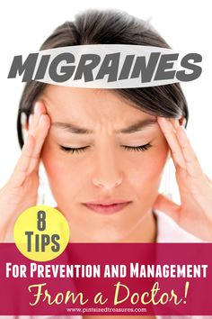 Migraines are tough for anyone, but especially a mom! Find out 8 awesome tips to help you prevent and manage them --- from a doctor! Pint-sized Treasures natural home remedies Tension Headache, Headache Relief, Migraine Headache, How To Cure Migraine, What Helps Migraines, Instant Migraine Relief, Prevent Migraines, Migraine Diet, Natural Headache Remedies
