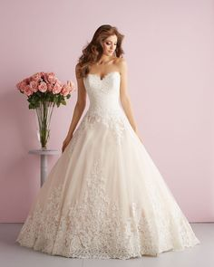 Discover the Allure Romance 2701 Bridal Gown. Find exceptional Allure Romance Bridal Gowns at The Wedding Shoppe Ball Dresses, Bridal Dresses, Ball Gowns, Bridesmaid Dresses, Prom Dresses, Blush Dresses, Dresses 2014, Wedding Dress Styles, Wedding Gowns