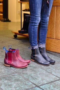 Paddock boots worn as casual flats. They remind me of Isabel Marant or Rag and Bone boots.