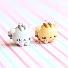 Hello everyone! Here are two chubby cat charms that are apart of my new #chubbyanimalcollectables line! These are currently available in grey or brown. Restock is happening next Tuesday 9am AEDT (Australian Eastern Daylight Time) ✨ Also don't forget to enter my giveaway in collaboration with @sophieandtoffee as it ends in 12 hours! More details on the original post! Hope you like them! ✌ #polymerclay #polymer #clay #cute #kawaii #polymerclaycharms #craft #handmade #sculpey #fimo ...