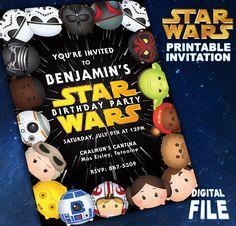 Tsum Tsum Star Wars Theme Party Invitation by OhWowDesign on Etsy