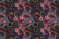 4 Paisley Floral Patterns by Sunny_Lion on Creative Market