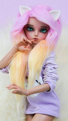 anime beautiful and kawaii Bild Ooak Dolls, Barbie Dolls, Art Dolls, Custom Monster High Dolls, Custom Dolls, Pretty Dolls, Beautiful Dolls, Barbie Fashionista Dolls, Enchanted Doll