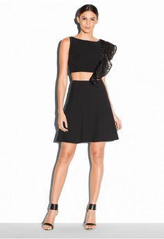 Italian Cady Stretch Flare Skirt