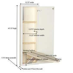 Ironing Board Cabinet Plans - Ironing Board Cabinet Plans , Household Essentials 1 Stowaway In Wall Ironing Board Iron Storage, Storage Shelves, Iron Board, Laundry Room Design, Iron Wall, Space Saving, Household, Interior, Ironing Boards
