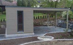 Garden house made of wood - Roof brick - Roof cladding Modern Backyard, Backyard Pergola, Pergola Shade, Pergola Kits, Backyard Landscaping, Sauna House, House Roof, Garden In The Woods, Home And Garden