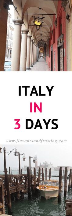 Our amazing trip to Italy in just 3 days: Bologna, Florence and Venice | Read more on FlavoursandFrosting.com