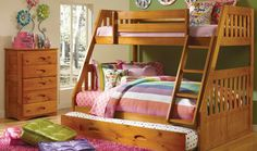 Discovery World Furniture Twin over Full Mission Bunk Bed - Bunk Beds - BEDS