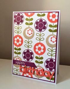 Beth's Little Card Blog: Retro birthday card