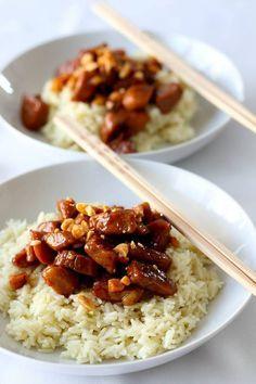 Porc au caramel ( Asie ) Plus No Salt Recipes, Pork Recipes, Asian Recipes, Cooking Recipes, Healthy Recipes, Sauce Recipes, Porc Au Caramel, Food Porn, Salty Foods