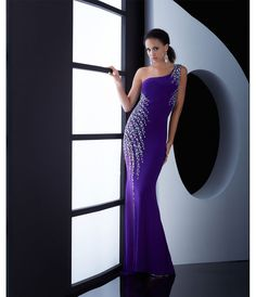 Jasz Couture Purple One Shoulder #Prom Dress #uniqueprom