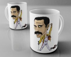 Freddie Mercury - caneca exclusiva - Mitos do Rock