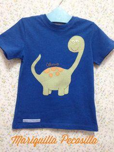 Camiseta con dinosaurio para Álvaro