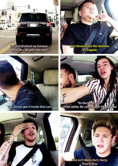 Niall and James are like the parents and Harry Liam and Louis are the kids