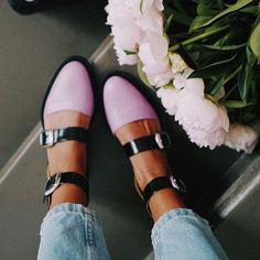 bcf46559dda6f6 2019 Fashion Trends Low Heel Color block Buckle Flats