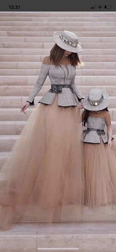 Cute outfit for mother and daughter Girls Dresses, Formal Dresses, Wedding Dresses, Robes Tutu, Mother Daughter Fashion, Girl Outfits, Cute Outfits, Designer Dresses, Beautiful Dresses