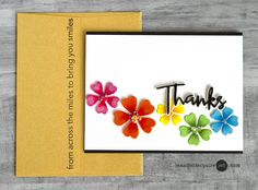 Simon Says Stamp Floral Burst Collage die card by Jennifer McGuire Ink