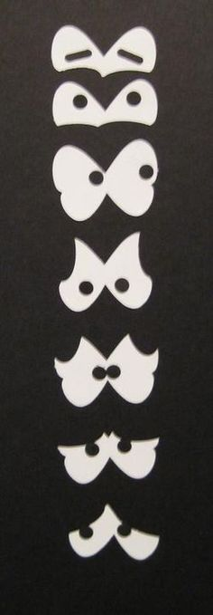 Eyes made with stampin up butterfly punch