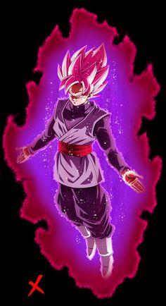 Goku Black Super Saiyajin Rosé Dragon Super, Dragon Ball Gt, Black Goku, Manga Anime, Dbz Characters, Goku 2, Naruto, Reference Images, Background Pics