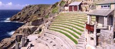 k so its not in Penzance. Stay in Penzance and go to Porthkurno to watch a play in this open air theatre. Beautiful Places To Visit, Cool Places To Visit, Places To Go, St Ives Cornwall, Cornwall England, Cotswold Way, Fantastic Show, Amazing, Open Air Theater