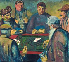 Giovanni Giacometti (Swiss 1868-1933) Die Kartenspieler - The Card Players (before 1918)