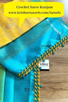 Saree Kuchu New Designs, Saree Tassels Designs, Wedding Saree Blouse Designs, Blouse Designs Silk, Designer Blouse Patterns, Blouse Neck Designs, Hand Embroidery Dress, Designer Silk Sarees, Rage