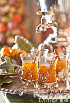 Gorgeous Intergenerational Holiday Gathering | Traditional Home - Mulled Apple Cider