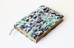 Journal diary notebook old dyed paper batik fabric blank by Patiak, $26.00