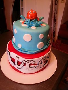 Dr Suess cat in the hat inspired birthday  cake
