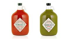 We don't want to run out of Tabasco sauce, why not put it in a clear Gallon Jug