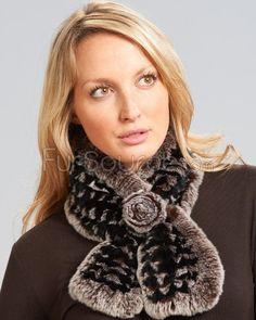 Rex Rabbit Fur Ruffled Pull-Through Scarf Brown : Fur Scarfs Rex Rabbit, Rabbit Fur, Fur Blanket, Fur Scarves, Scarfs, Brown, Fashion, Moda, Scarves
