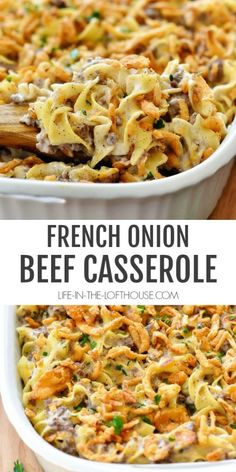 French Onion Casserole recipes for dinner main dishes mom French Onion Beef Casserole Onion Casserole, Beef Casserole Recipes, Casserole Dishes, Meat Recipes, Crockpot Recipes, Ground Beef Casserole, Recipies, Onion Recipes, Delicious Recipes
