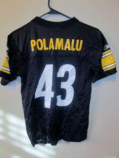 ReebokTroy Palomalu #43 Pittsburgh Steelers jersey , youth medium - Football-NFL