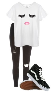 """"""":("""" by truedirectioner-belieber ❤ liked on Polyvore featuring River Island and Vans"""