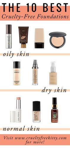 Best #crueltyfree foundations for different skin types.