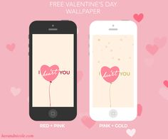 I Heart You. Free iPhone Valentine's Day Wallpaper