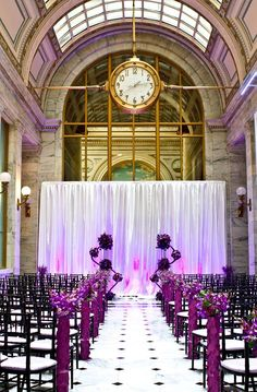 When it's time, you'll know. (https://classicpartyrentals.com/contact#locations) #time for #classic #party #rentals #sanfrancisco #rental #equipment #timeless #venue #vintage #clock #classicparty #sf #events #wedding #aisle #purple #accents #mood #lighting #style #grace #elegance #bayarea #class #sayido to #classicpartyrentals (https://classicpartyrentals.com/contact#locations)