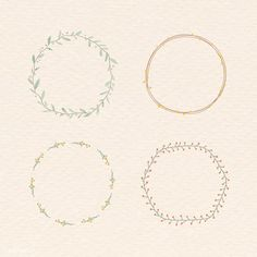 Leafy frame set on beige background vector | free image by rawpixel.com / marinemynt Free Doodles, Black Wreath, Wreath Drawing, Free Hand Drawing, Free Frames, Pastel Background, Christmas Frames, Heart Frame, Free Illustrations